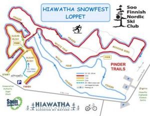 Hiawatha Snowfest Map